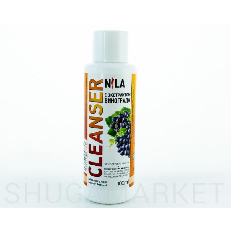 Nila Cleanser, средство для снятия липкого слоя  Виноград, 100 мл