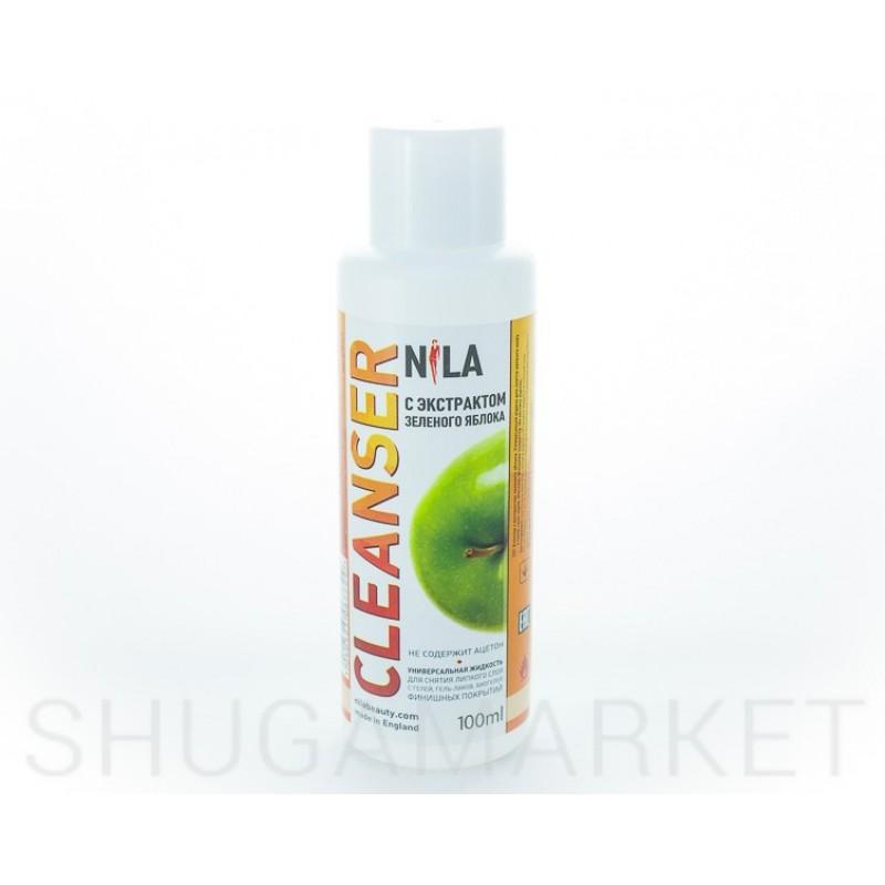 Nila Cleanser, средство для снятия липкого слоя  Зеленое яблоко, 100 мл