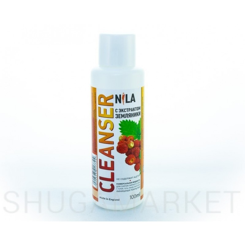 Nila Cleanser, средство для снятия липкого слоя  Земляника, 100 мл