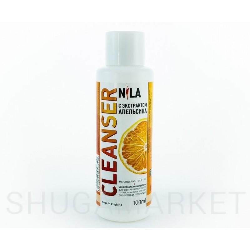 Nila Cleanser, средство для снятия липкого слоя Апельсин, 100 мл