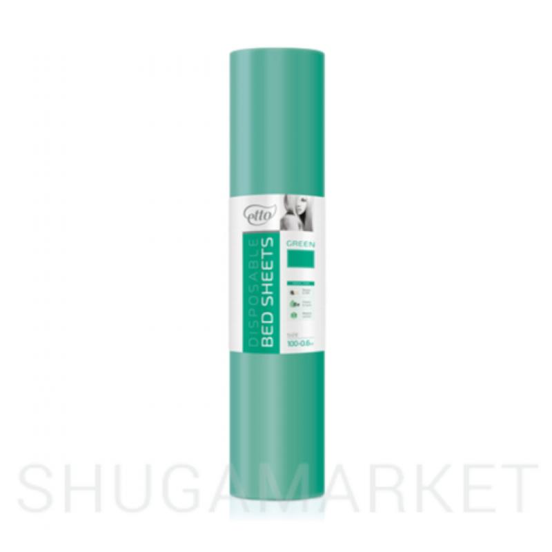 Одноразовые простыни в рулоне ETTO СМС 0,6x100 м, зеленые