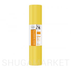 Одноразовые простыни в рулоне ETTO СМС 0,8x200 м, жёлтые