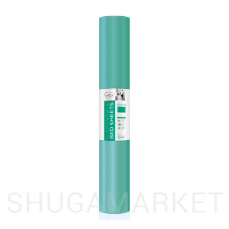 Одноразовые простыни в рулоне ETTO СМС 0,8x100 м, зеленые