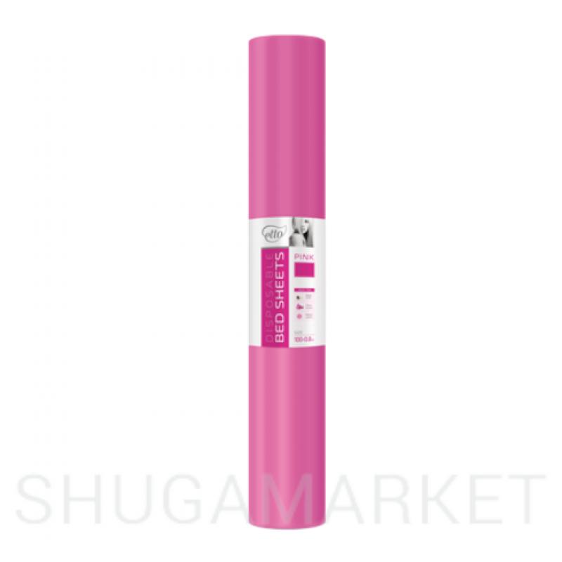 Одноразовые простыни в рулоне ETTO СМС 0,8x100 м, розовые