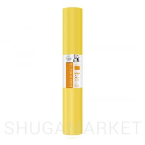 Одноразовые простыни в рулоне ETTO СМС 0,8x100 м, жёлтые