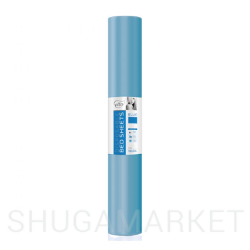 Одноразовые простыни в рулоне ETTO СМС 0,8x100 м, голубые