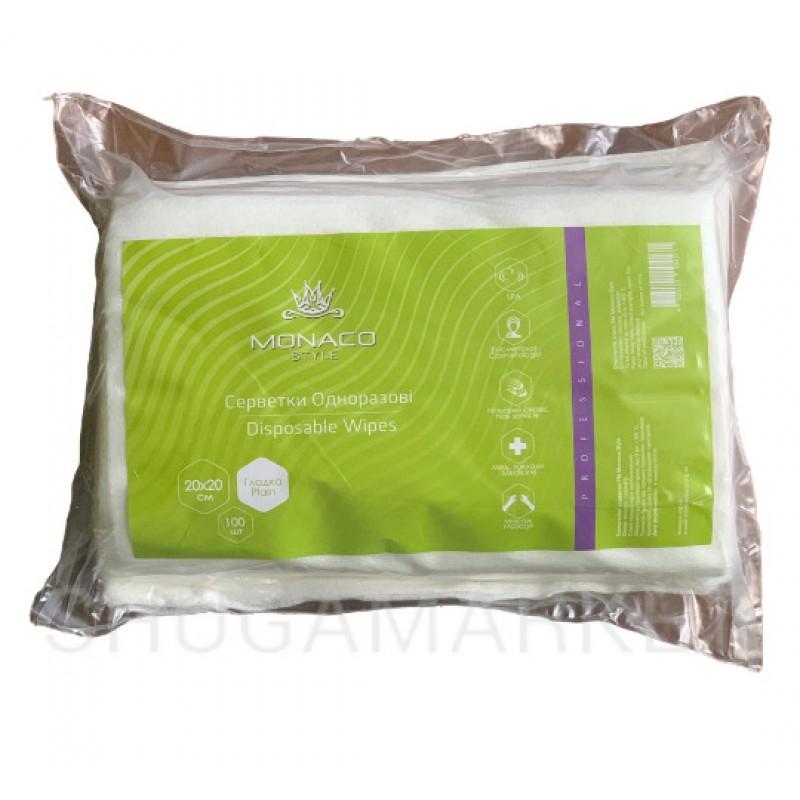 Monaco Style Одноразовые салфетки 20*20 см (гладкие), 100 шт