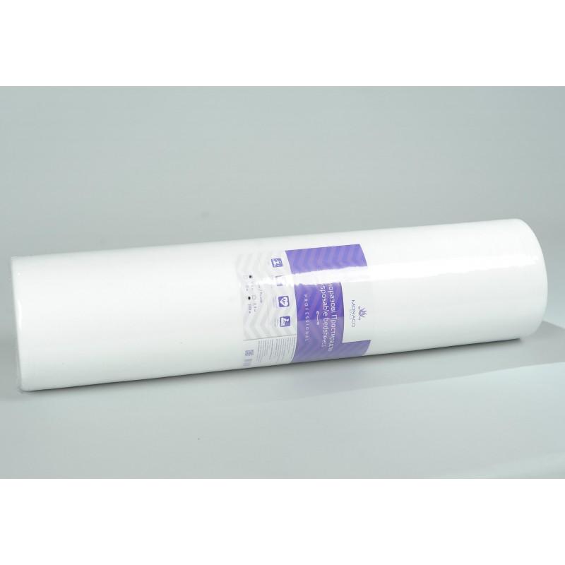 Monaco Style простыни косметологические в рулоне, спанбонд 0,8*200, белые