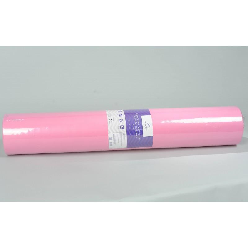 Monaco Style простыни косметологические в рулоне, спанбонд 0,8*200, розовые