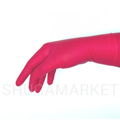 Перчатки нитриловые Prestige Medical багровые, 2 шт