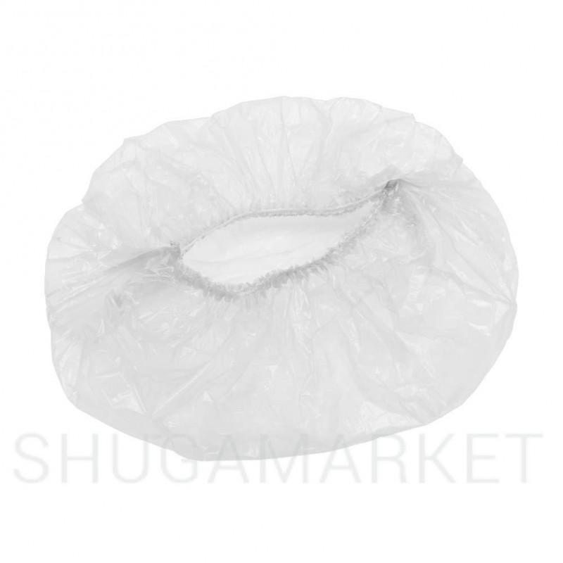 Одноразовые шапочки-одуванчик (полиэтилен) ETTO, 100 шт