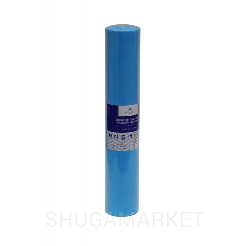 Monaco Style простыни косметологические в рулоне, спанбонд 0,8*200 м, голубые
