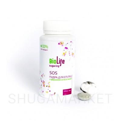 SOS пудра BioLife для депиляции с природными антисептиками, 100 г
