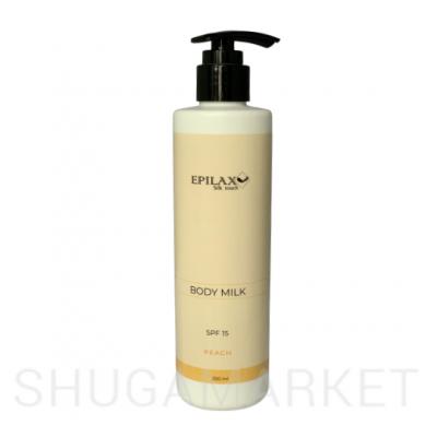 Молочко для тела SPF 15 с пантенолом Peach ТМ Epilax silk touch 250 г