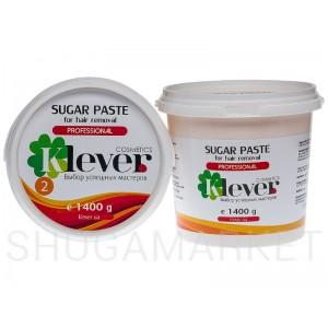 Сахарная паста Klever cosmetics №2 Light (легкая), 1400 г