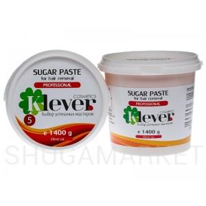 Сахарная паста Klever cosmetics №5 Strong (плотная), 1400 г