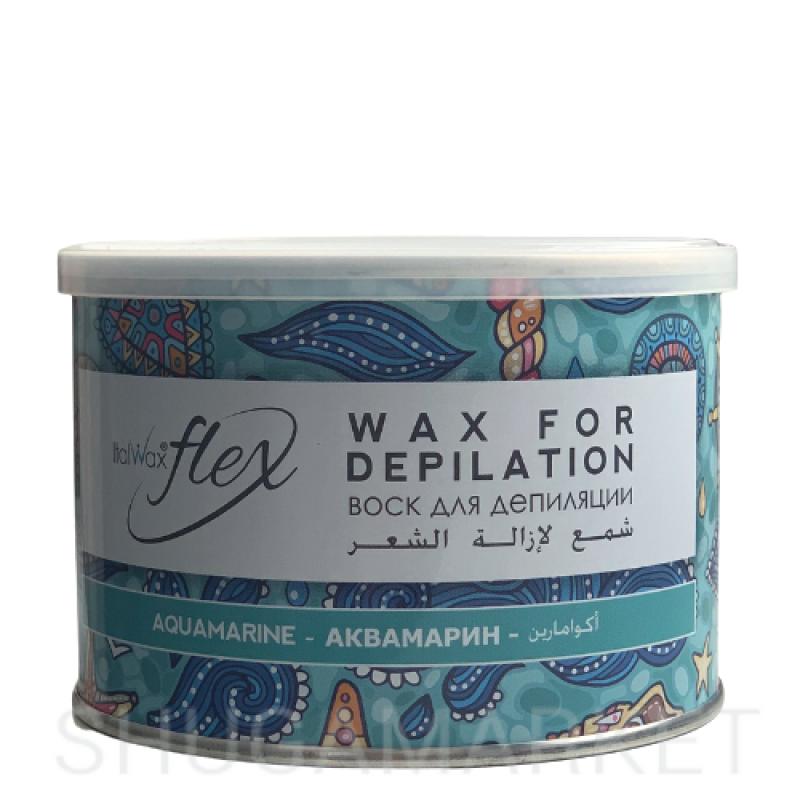 Тёплый воск для депиляции ItalWax Flex Аквамарин, 400 г