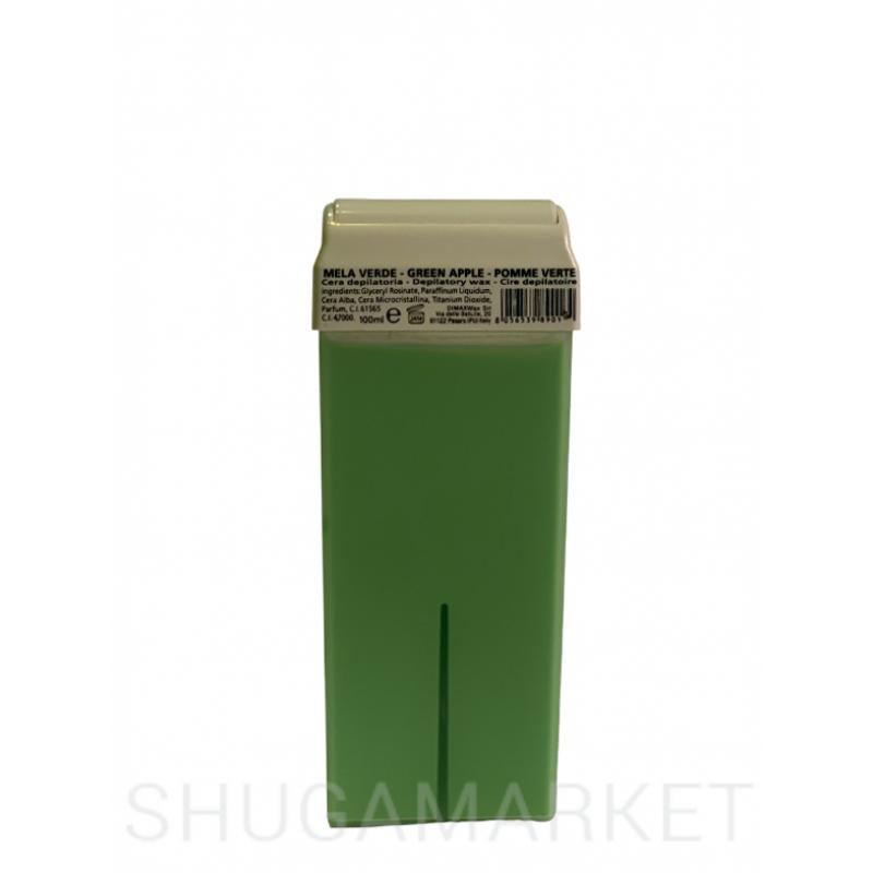 Воск в кассете с диоксидом титана Зелёное яблоко, 100 г