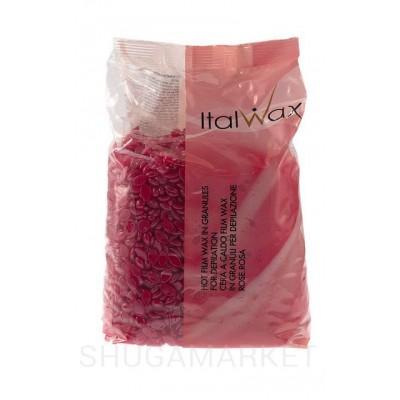 Горячий воск для депиляции ItalWax Роза (винный), в гранулах, 1000 г